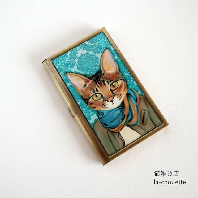 名刺カードケース・ストール猫